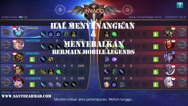 Hal Menyenangkan dan Ngeselin Bermain Mobile Legends