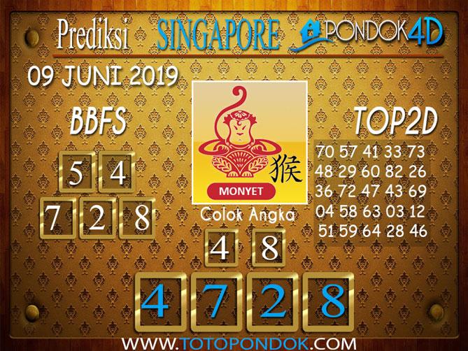 Prediksi Togel SINGAPORE PONDOK4D 09 JUNI 2019