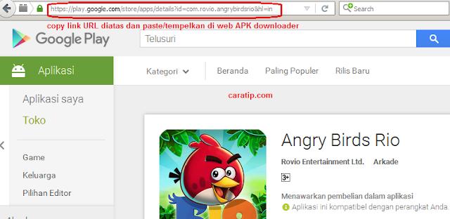 cara download file apk di google play store