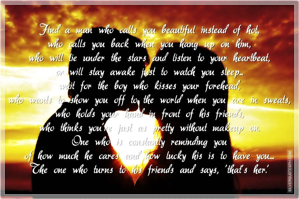 How To Find The Man Of Your Dreams Silver Quotes