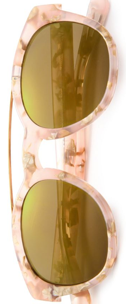 Dolce & Gabbana Phantos 50MM Marbleized Acetate & Metal Sunglasses