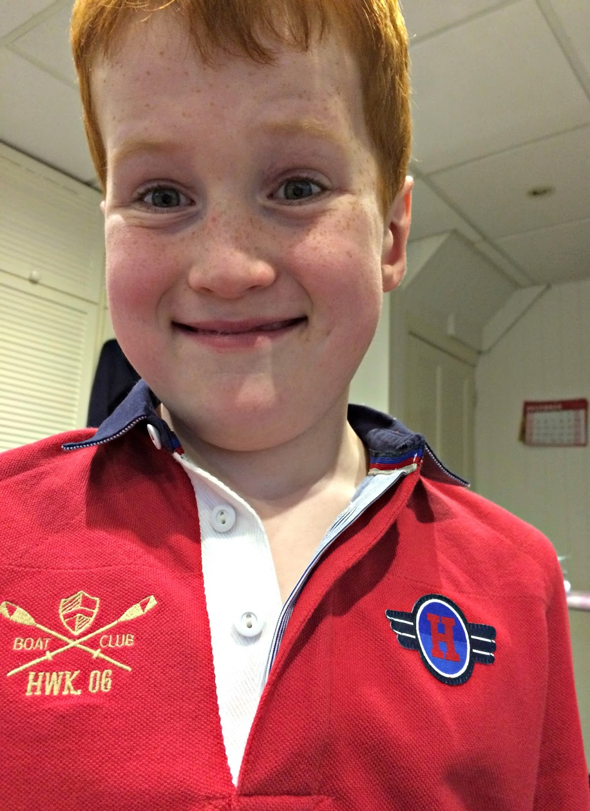 Ieuan wearing Howick Junior Quilted Pique Polo