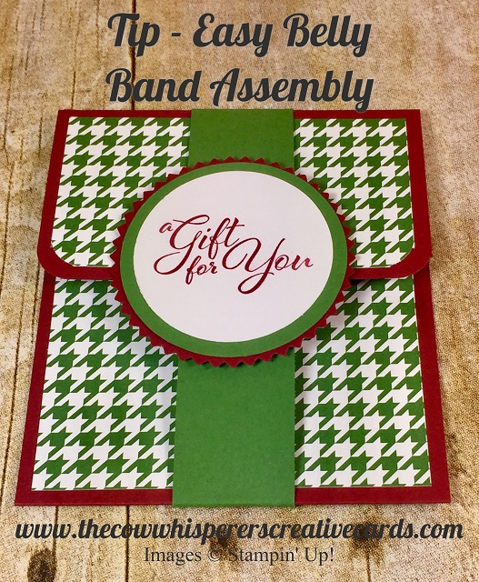 Tip, Easy, Belly Band, Stampin Up