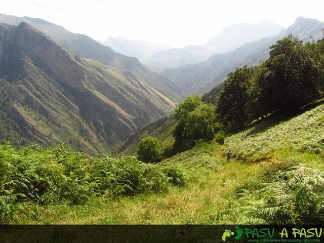 Pista bajando por el valle de Tobao