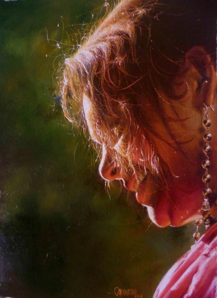Портреты в стиле реализм. Rajasekharan Parameswaran 9