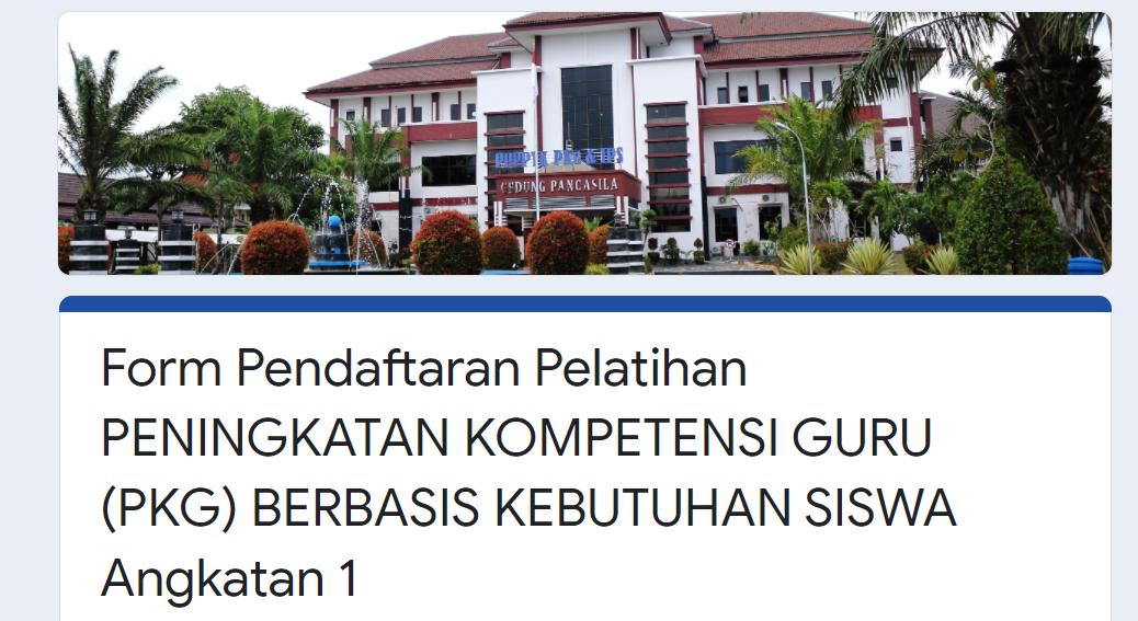 gambar pendaftaran Pelatihan PKG 2021