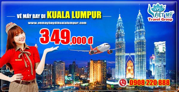 Vé máy bay đi Kuala Lumpur tháng 4 hãng Vietjet Air