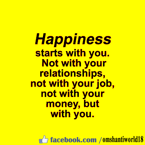 Happiness starts with u