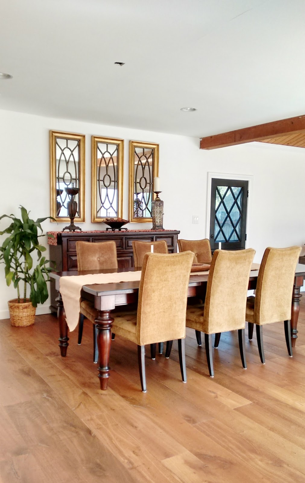 CAD Interiors mid-century farmhouse transitional dining room makeover before photo