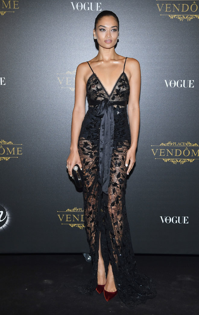 Shanina Shaik at Vogue x Irving Penn Party in Paris
