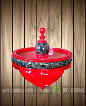 Tebok lovebird mewah motif kombinasi warna merah dan marmer
