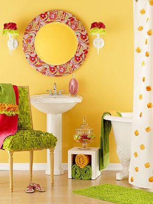 kids bathroom decor ideas paint color schemes - Kids Bathroom Decor