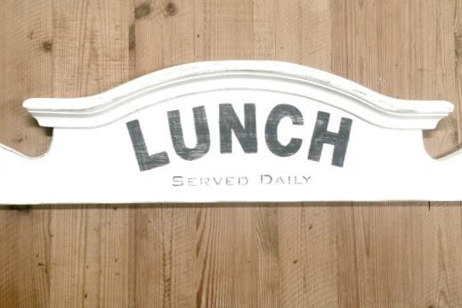 Repurposed Headboard Sign