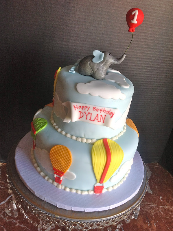 Plumeria Cake Studio Hot Air Balloon Birthday Cake