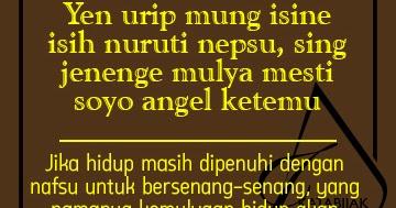61 Kata Mutiara Bahasa Jawa Halus
