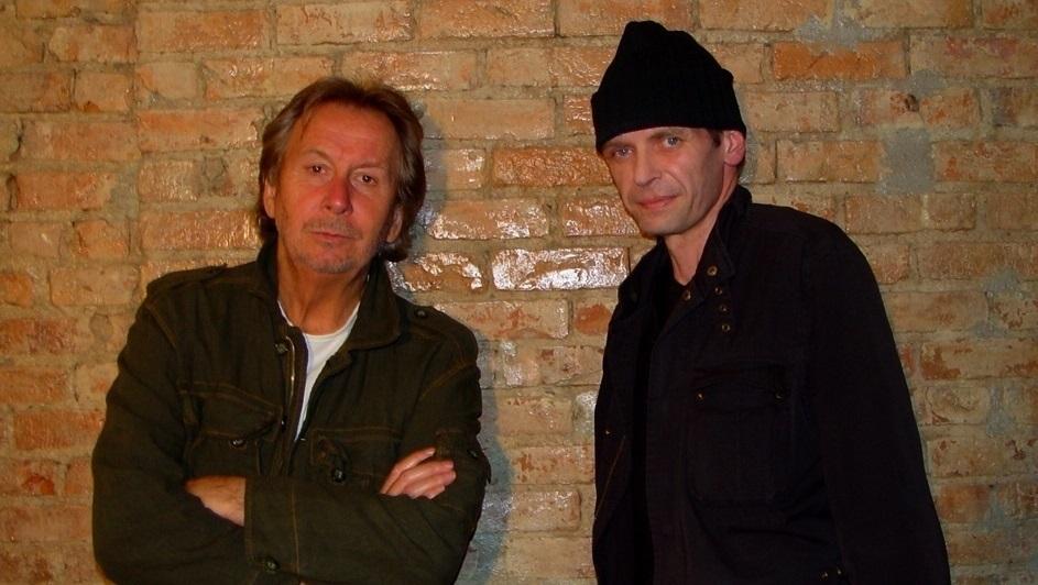 Bernar Venet and Klaus Guingand 2006 - New York - USA . Klaus Guingand studio