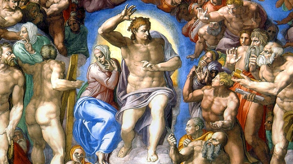 Watch The Last Judgment by Michelangelo Buonarroti with movement Lacrimosa from Requiem by Wolfgang Amadeus Mozart