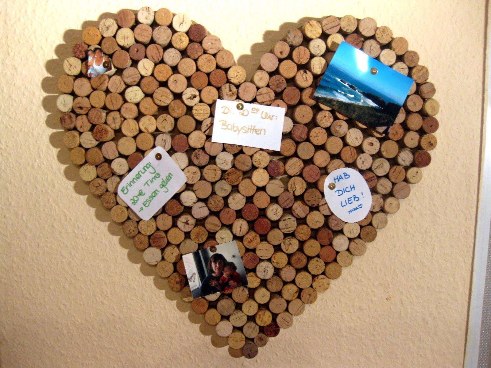 Kunterbunte Träumchen: Korkpinnwand Herz, Recycling Von Korken