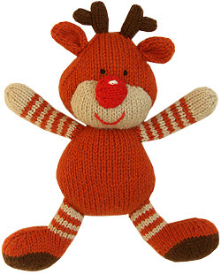 knitted toy knitted bunny knitted rabbit knitted hamster knitted reindeer