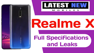 Realme X full Specifications