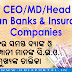[PDF] List of CEO/MD/Head of All Indian Banks and Insurance Companies (Public/Private Sector) [2018]