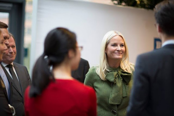 Princess Mette-Marit At The Opening Of BI International Case Competition