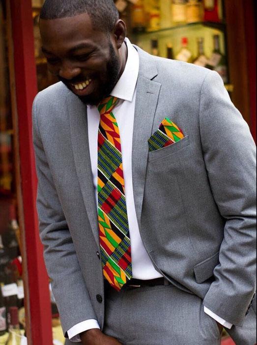 Latest ankara Suit tie styles for guys (5)
