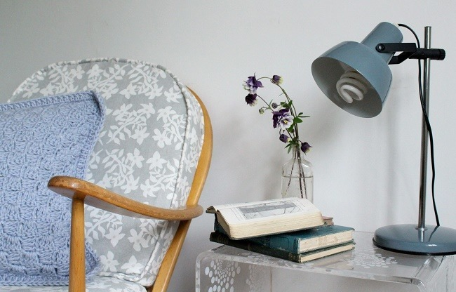 DIY upholstery with Laura Ashley fabric