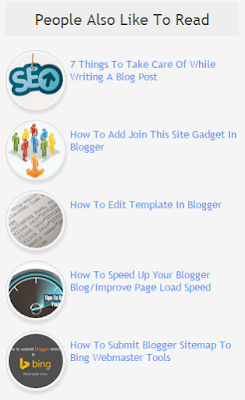 random post widget for blogger