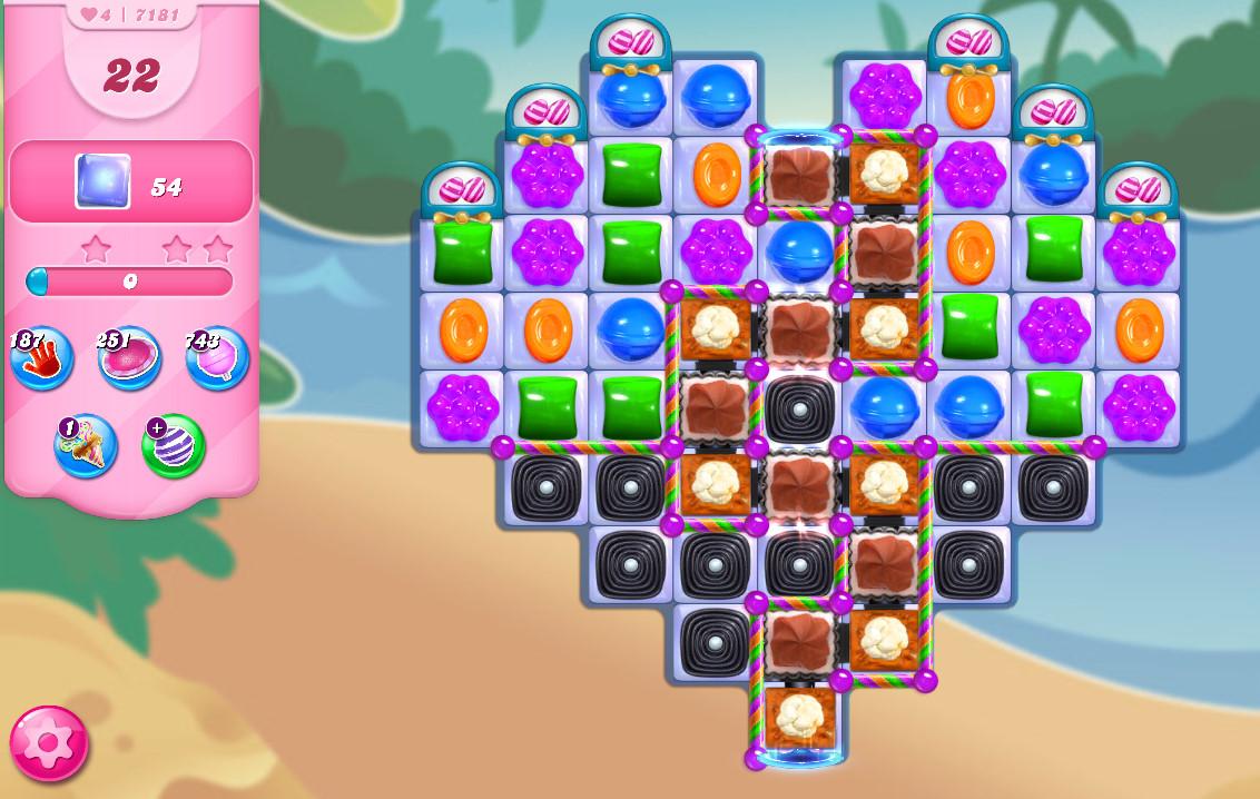 Candy Crush Saga level 7181