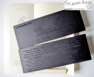 segnalibro inciso personalizzato menu