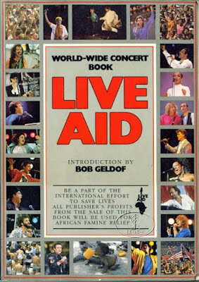 Tommy Mondello's program from the Live Aid concert in Philly 1985