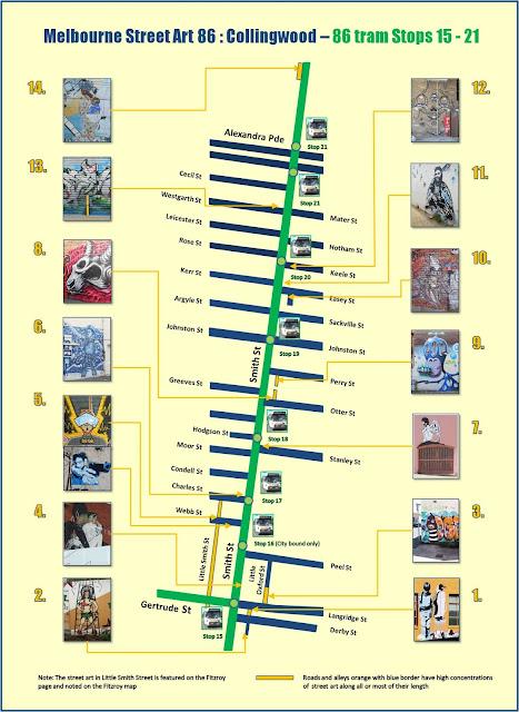 Melbourne Street Art Map Melbourne Street Art 86: COLLINGWOOD   Smith St Melbourne Street Art Map