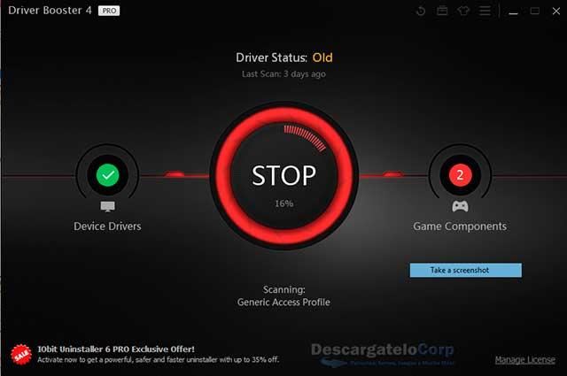 Driver Booster Profesional 2017 Instala y Actualizada los Drivers de tu PC