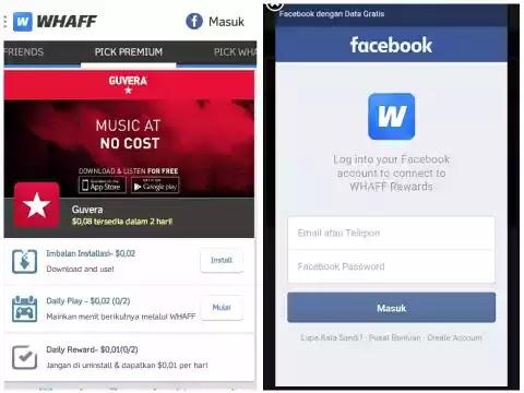 Cara  Menggunakan WHAFF Untuk Membeli Cash Game Gratis