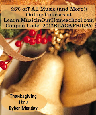 Black Friday Music in Our Homeschool #BlackFriday #homeschooling