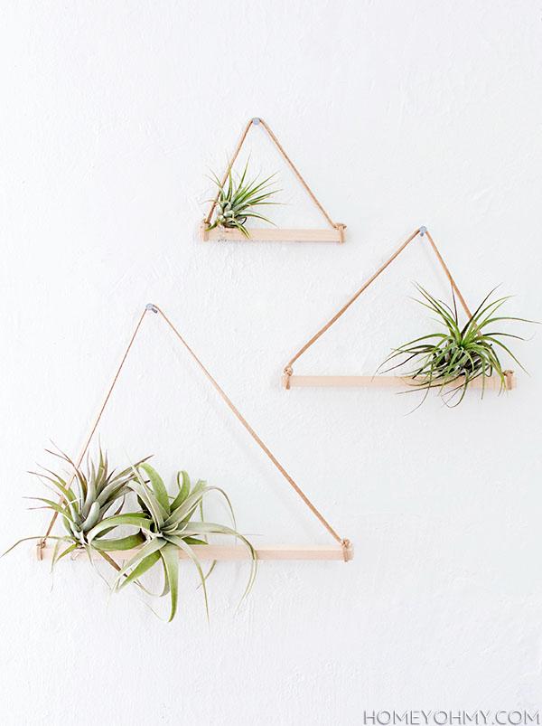 PUNTXET Maceteros colgantes de madera #DIY #handmade #tutorial #hogar #home #plantas #plants