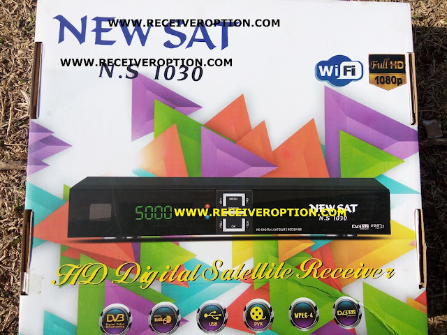 NEW SAT N.S 1030 HD RECEIVER AUTO ROLL POWERVU KEY NEW SOFTWARE