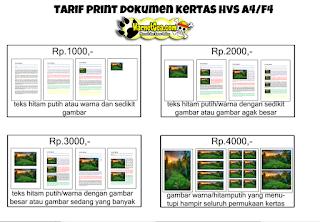Contoh harga print warnet Gea file PSD siap edit