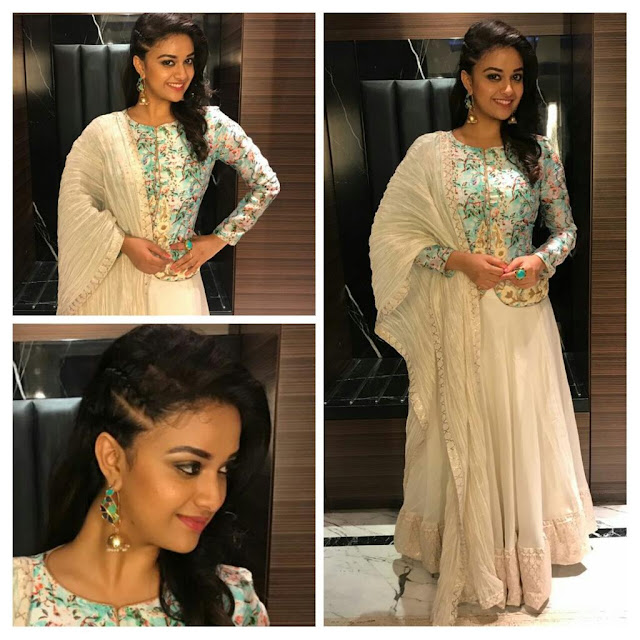 Actress Keerthi Suresh HD Images in  Sarees
