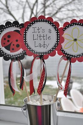 Centros de mesa de Ladybug