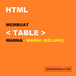 Membuat Background Table Warna Warni (Belang) Pada BLOG