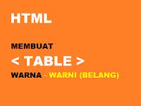 Membuat Background Table Warna Warni (Belang) Pada BLOG
