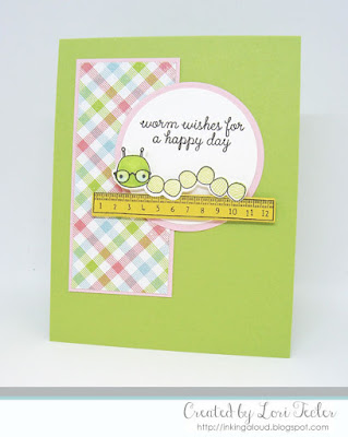 Worm Wishes card-designed by Lori Tecler/Inking Aloud-stamps and dies from Reverse Confetti