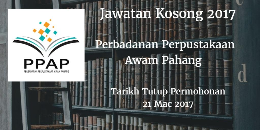 Jawatan Kosong Perbadanan Perpustakaan Awam Pahang 21 Mac 2017