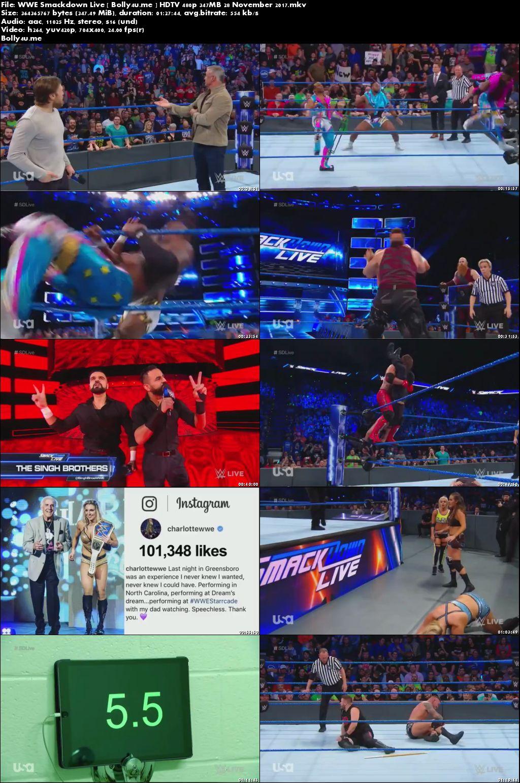 WWE Smackdown Live HDTV 480p 350MB 28 November 2017 Download