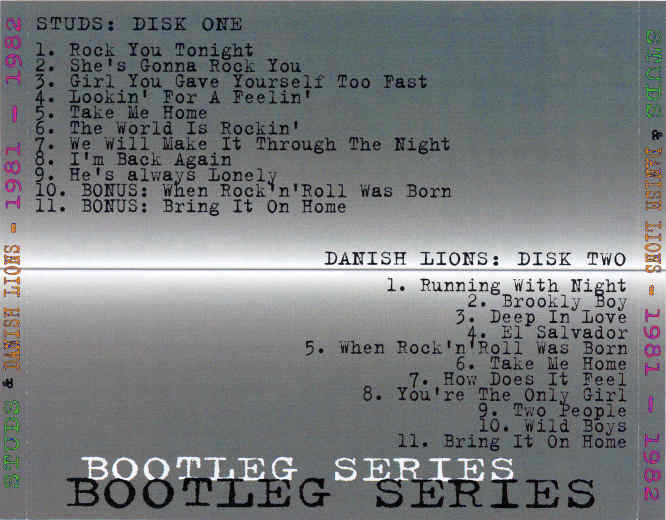 MIKE TRAMP - The Bootleg Series [Private 7-CD Box] Studs Danish Lions - back