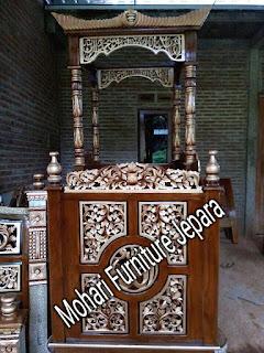 Mimbar/Podium Ukir Jati Jepara Murah