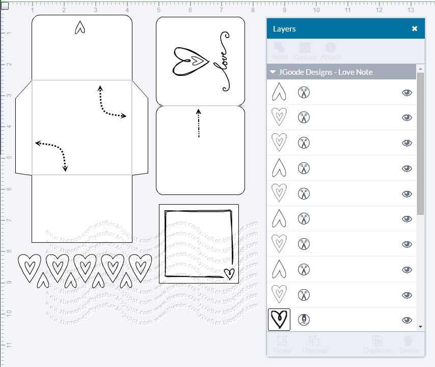 The Non-Crafty Crafter: CRICUT: Design Space - Scoring twice