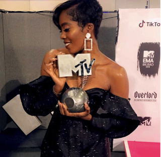 Tiwa Savage wins Best African Act